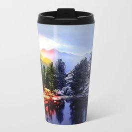 Colorado Flag/Landscape Travel Mug