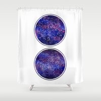 maps Shower Curtains featuring Star Maps by Stevyn Llewellyn