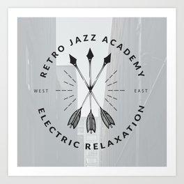 Retro + Vintage Electric Relaxation Art Print