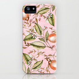 Lemons Pink iPhone Case