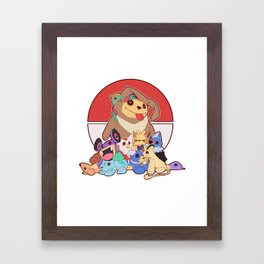 The Creatures as Plushies Framed Art Print