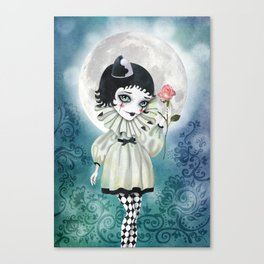 Pierrette Under the Icy Moon Canvas Print