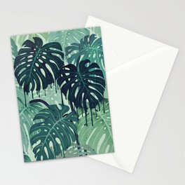 Monstera Melt (in Green) Stationery Cards
