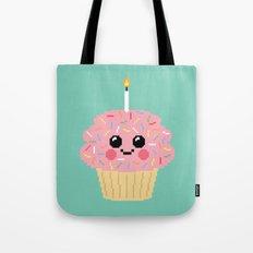 Happy Pixel Cupcake Tote Bag