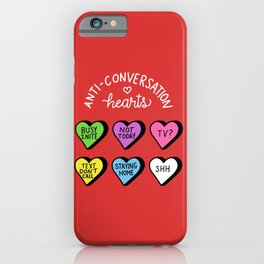 Anti-Conversation Hearts iPhone Case