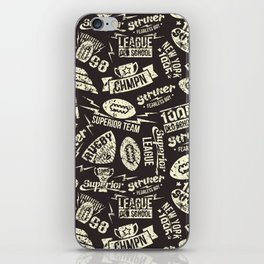 Sport rugby emblems pattern iPhone Skin