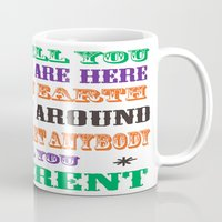vonnegut Mugs featuring Kurt Vonnegut QUOTE POSTER - typography Word Art  -  inspirational quotes by BEANLAND