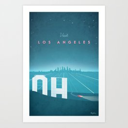 Vintage Los Angeles Travel Poster Kunstdrucke