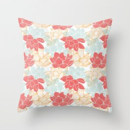 Lotus Carousal Throw Pillow