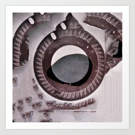 archeology of the future. Art Print