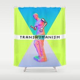 Maquinus Transhumanism ENG Shower Curtain