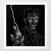 tesla Art Prints featuring TESLA by Squidnay