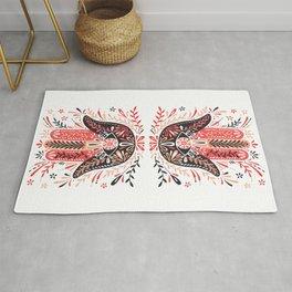 Hamsa Hand – Red & Black Palette Rug