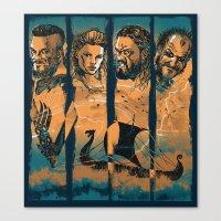 vikings Canvas Prints featuring Vikings by RicoMambo