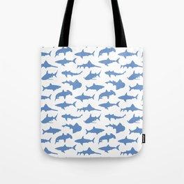 Sharks in Danube Blue Tote Bag