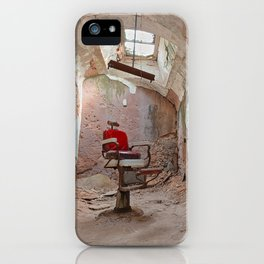 Abandoned Barber Prison Cell iPhone Case