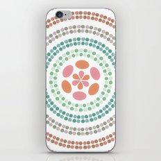 Retro floral circle 2 iPhone & iPod Skin