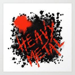 Metaphysical Penguin Heavy Metal Art Print