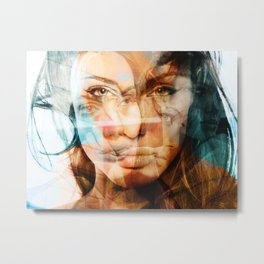 faces of Angelina Jolie Metal Print