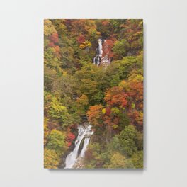 Kirifuri Falls near Nikko, Japan in autumn Metal Print