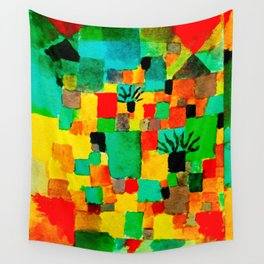 Southern Tunisian Gardens by Paul Klee Wall Tapestry