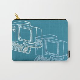 Blue Computer Carry-All Pouch