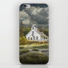 Old Mission Point Lighthouse in Early Autumn iPhone & iPod Skin