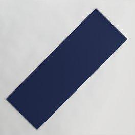 Navy Blue Minimalist Solid Color Block Spring Summer Yoga Mat