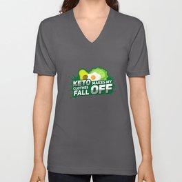 Keto Makes My Clothes Fall Off - Funny Avocado Unisex V-Neck