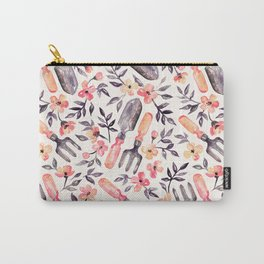 Spring Gardening - peach blossoms on cream Carry-All Pouch
