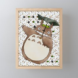 Totoro&SootSprites Framed Mini Art Print