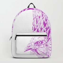 she's a beauty drawing, purple Backpack