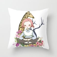 Jenny Eat Breakfast Throw Pillow
