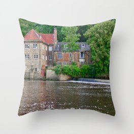 Fulling Mill House at Durham Throw Pillow
