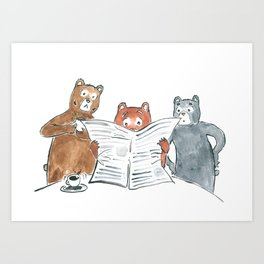 Bad News Bears Art Print