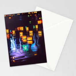 Festival of water lights Stationery Cards