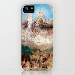 The sinking of the Nibelungen hoard in the Rhine - Digital Remastered Edition iPhone Case