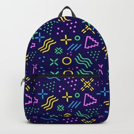 Retro 80s Shapes Pattern Backpack