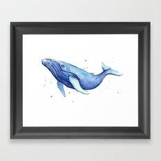 Humpback Whale Watercolor Animal Painting Nursery Animals Framed Art Print