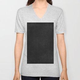 Simple Chalkboard background- black - Autum World Unisex V-Neck