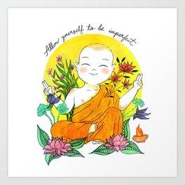 The Buddhist Monk Art Print