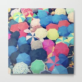 Colorful Sea of Umbrellas Metal Print