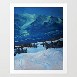 Last Run at Lake Louise Art Print