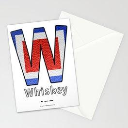 Whiskey - Navy Code Stationery Cards