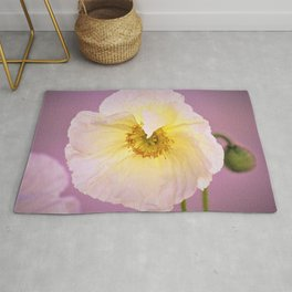 White Poppy at Sunset by Reay of Light Rug