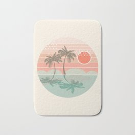 Dang - beach vibes minimal sunset sunrise ocean surfing nature palm tropical socal cali 70s style Bath Mat