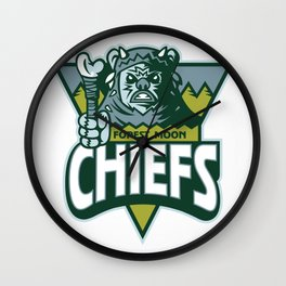 Forest Moon Chiefs Wall Clock