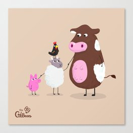 We Farm Animals Should Stick Together Canvas Print