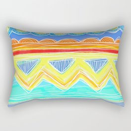 Sunrise Geometrics Rectangular Pillow