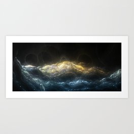 Turbulence Of The Cosmic Sea Art Print